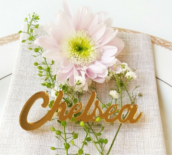 Gold Mirror Wedding Place Card – 5