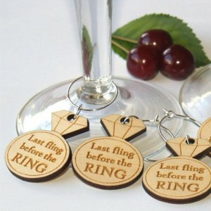 A great name tag which doubles up as a keepsake reminding them of your special day, the Bachelorette Wine Glass Charm will ensure that your guests know which drink belongs to them!
