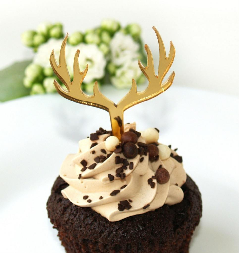DEER GOLD CUPCAKE TOPPER | Unique Cupcake Toppers by A Matter Of Style