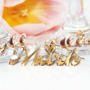 A great name tag which doubles up as a keepsake reminding them of your special day, the Personalised Gold Mirror Wine Glass Charm will ensure that your guests know which drink belongs to them!