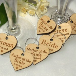 A great name tag which doubles up as a keepsake reminding them of your special day, the Personalised Wedding Wine Charm will ensure that your guests know which drink belongs to them!