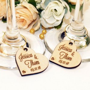 A great name tag which doubles up as a keepsake reminding them of your special day, the Personalised Wood Wedding Wine Charm will ensure that your guests know which drink belongs to them!