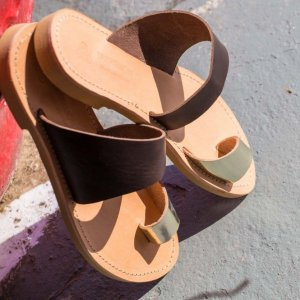 Just what every summer wardrobe needs, the Harmonia Brown and Gold Greek Leather Sandal is every woman's dream pair, super comfy and elegant, and easily combined with any outfit.