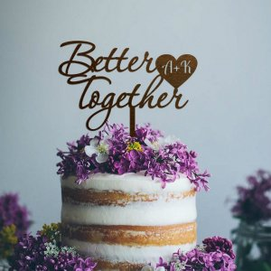 A lovely way to make your special cake unique, the Better Together Initials Wedding Cake Topper can be personalised to add to what should be a day of joy and happiness!