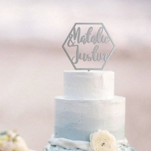 A lovely way to make your special cake unique, the Geometric Wedding Cake Topper can be personalised to add to what should be a day of joy and happiness!