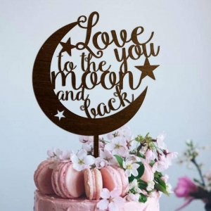 A lovely way to make your special cake unique, the 'Love You To The Moon And Back' Wedding Cake Topper can be personalised to add to what should be a day of joy and happiness!
