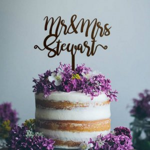 A lovely way to make your special cake unique, the Mr and Mrs Wedding Cake Topper can be personalised to add to what should be a day of joy and happiness!