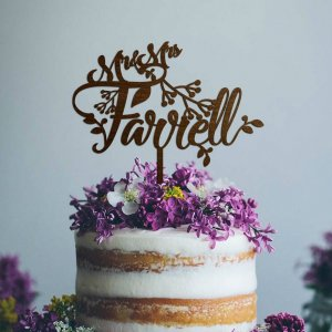 A lovely way to make your special cake unique, the Personalised Mr & Mrs Wedding Cake Topper can be personalised to add to what should be a day of joy and happiness!