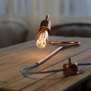 The Cu 72 Copper Table Lamp is perfect for an industrial chic styled room.