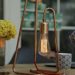The Cu 170 Copper Table Lamp is an uncommon accent for any desk, dresser or night stand.