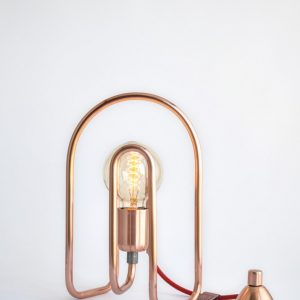 With a versatile design, the Cu 180 Copper Table Lamp is ideal in the office on a desk or in any room in the house.
