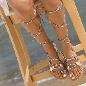 With these stunning pair of lace up sandals you will definitely feel like Goddess Aphrodite while drinking your cocktail next to the sea.