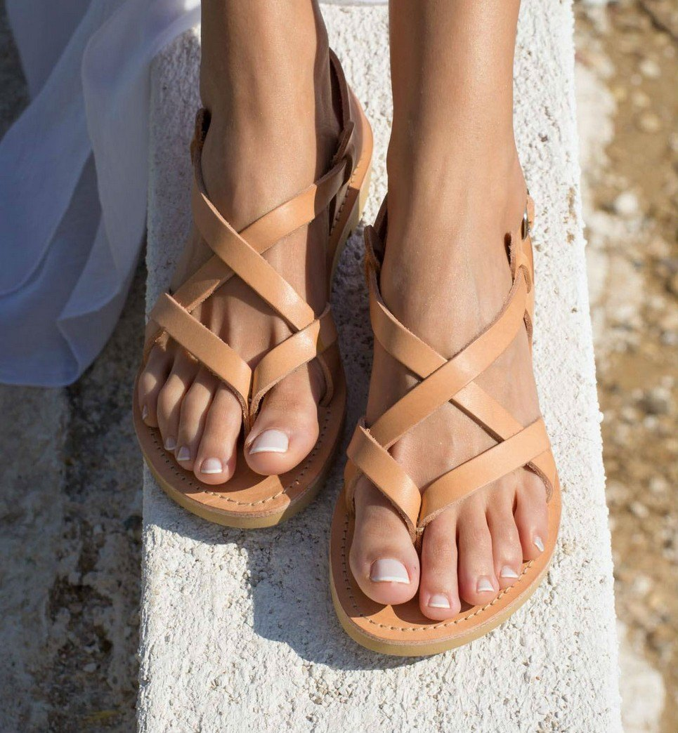 9f3b98e27cd8 GAIA GREEK LEATHER SANDAL