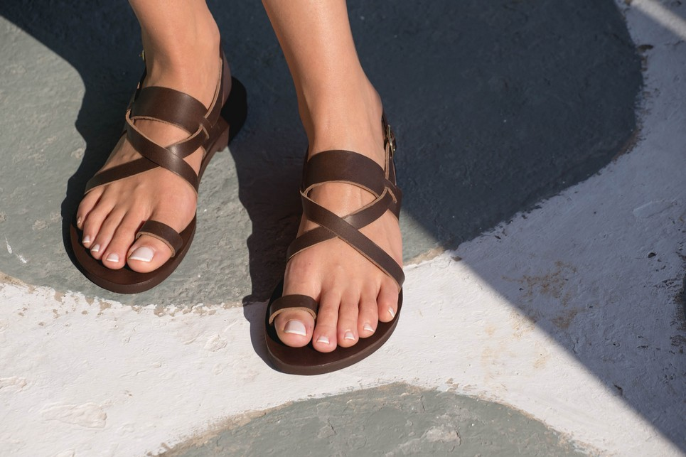 9d86157249a6 ... The Kleio Greek Leather Sandal is a true jewellery for your feet