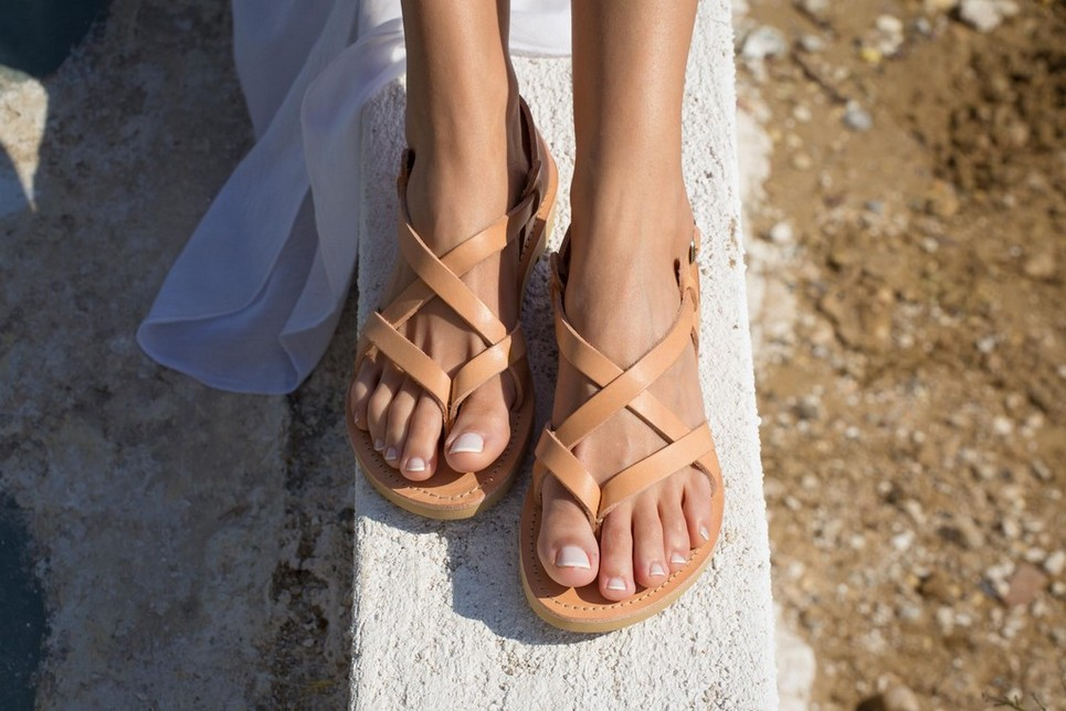 2e8b52ae259 GAIA GREEK LEATHER SANDAL