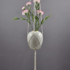 Beautifully designed with complex macramé knots, the Pure Cotton Plant Hanger is perfect for any decorating style.
