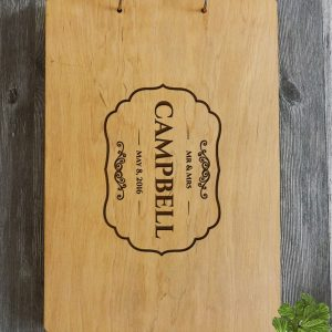Available in A4 and A5 size, the Personalised Wooden Wedding Guest Book - Campbell is a beautiful Wedding Guest Book made of wood that will accurately keep your memories about this special day.