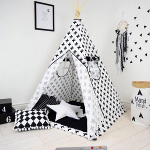 Add the perfect touch to your child's room with the Classic Crosses Children's Teepee Tent. Let your little enjoy their own teepee for hours of play time and imagination.
