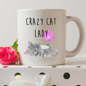 Sip your favourite tea or coffee with the Crazy Cat Lady Coffee Mug that makes a fantastic present or a little treat for yourself.