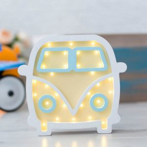 With a charming design, the Hippie Bus Wooden Night Light provides a reassuring glow for your little one, making it perfect for a nursery or kids room nightlight, or an interesting addition to any other space.