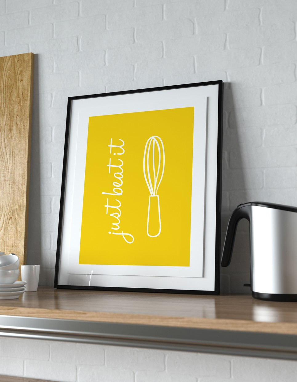 JUST BEAT IT | Wall Decor Poster by A Matter of Style