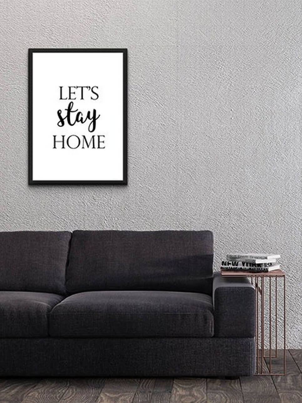 Home Wall Poster U2013 Letu0027s Stay Home