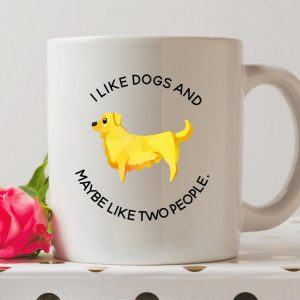 Sip your favourite tea or coffee with the I Like Dogs And Maybe Like Two People Coffee Mug that makes a fantastic present or a little treat for yourself.