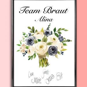 Add some effortless style to your home with the Personalised Wedding Print - Bridal Bouquet that will compliment your interior décor.