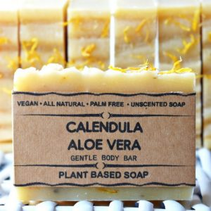 A real treat for your washtime, the Calendula Aloe Vera Handmade Bar Soap is extremely mild on the skin with rich and creamy lather.