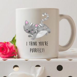 Sip your favourite tea or coffee with the I Think You're Purrfect Cat Coffee Mug that makes a fantastic present or a little treat for yourself.