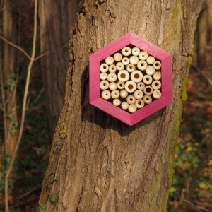 Designed to look wonderful in a garden, the Bee Hotel Burgundy is an ideal gift for a gardener or a wildlife enthusiast as well as anyone with a garden who is interested in garden design.