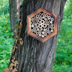 Designed to look wonderful in a garden, the Bee Hotel Prometheus is an ideal gift for a gardener or a wildlife enthusiast as well as anyone with a garden who is interested in garden design.