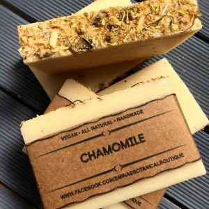 A real treat for your washtime, the Chamomile Shea Organic Soap provides a luxurious and aphrodisiacal blend that will calm your senses.