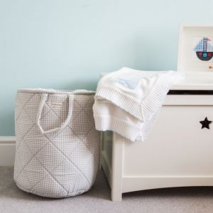 A great gift to keep teenage rooms a little tidier, the Grey Gingham Children's Laundry Basket is a stylish way to store your laundry or toys and bits from around the home.