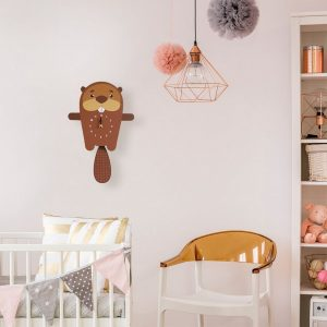 A great gift and a lovely addition to any nursery or bedroom, the Basil The Beaver Pendulum Wall Clock is a great way of helping children learn to tell the time whilst offering a stunning wall decoration.