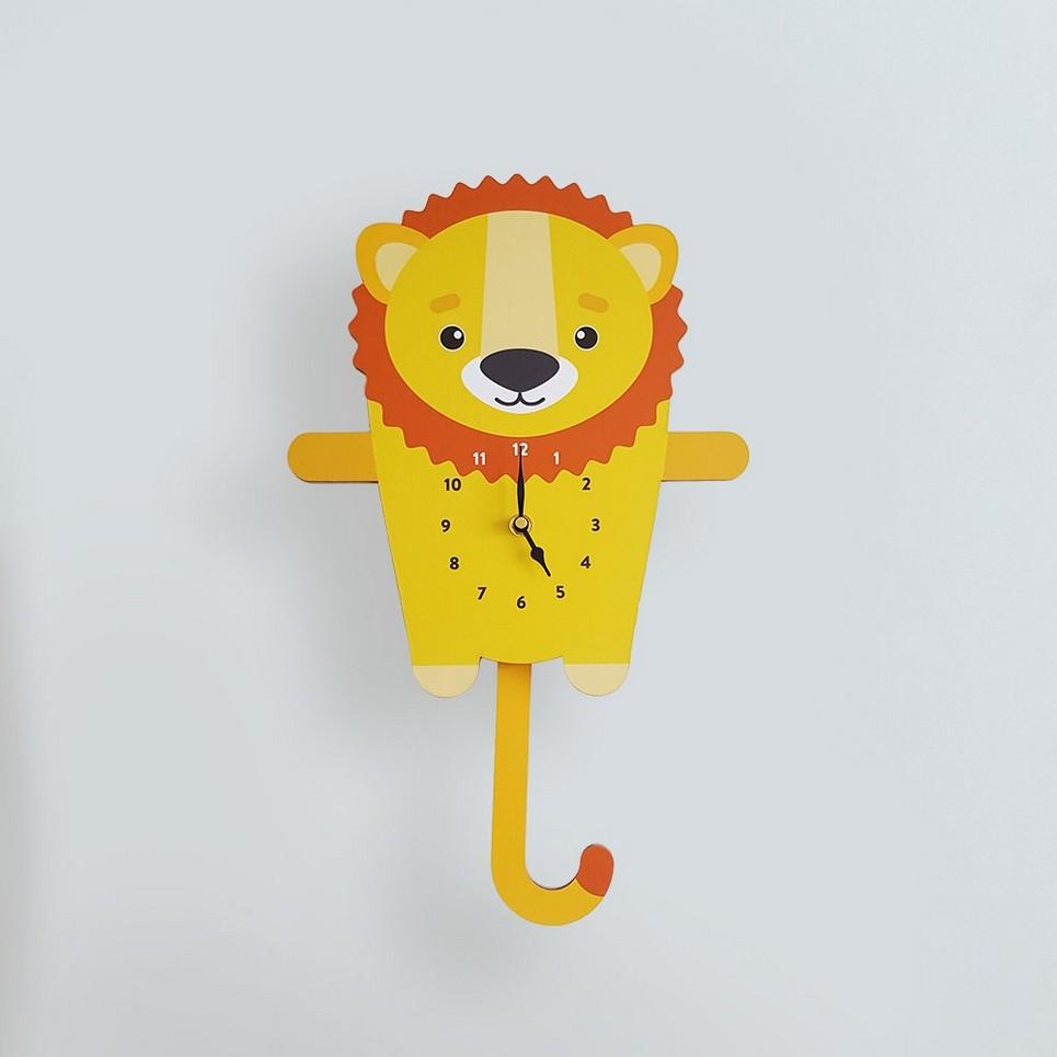 LEONARD THE LION PENDULUM WALL CLOCK   Children\'s Wall Clocks by A ...