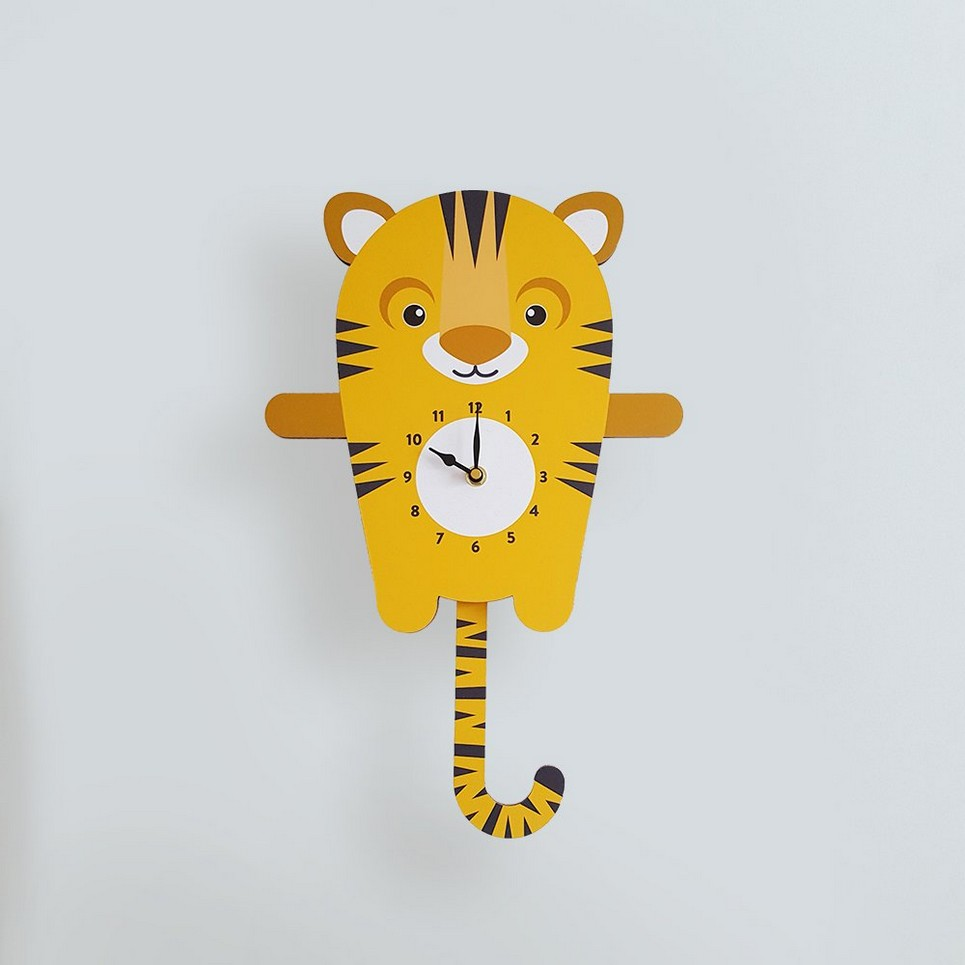TILLY THE TIGER PENDULUM WALL CLOCK | Children\'s Wall Clocks by A ...