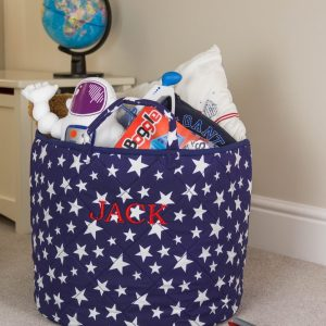 A practical home accessory for a child's bedroom, the Blue Star Toy Storage Basket is the perfect storage solution for keeping those runaway toys, books, shoes or laundry at bay.