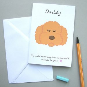 Send your love and warmth with the 'Daddy' Card from your Pet. An ideal gift for a birthday or anniversary, this is a truly unique keepsake card that lets your other half know just how much they mean to you.