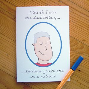 Send your love and warmth with the 'One in a Million' Father's Day Card. An ideal gift for a birthday or anniversary, this is a truly unique keepsake card that lets your other half know just how much they mean to you.
