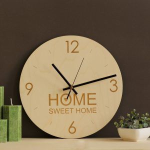 With a sophisticated and functional look, the Home Sweet Home - Wooden Wall Clock will add an element of starry spirit to any room.