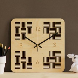 With a sophisticated and functional look, the Minimalist Wooden Wall Clock will add an element of starry spirit to any room.