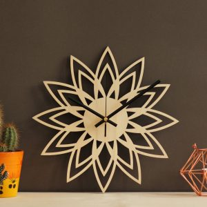 With a sophisticated and functional look, the Star Wooden Wall Clock will add an element of starry spirit to any room.