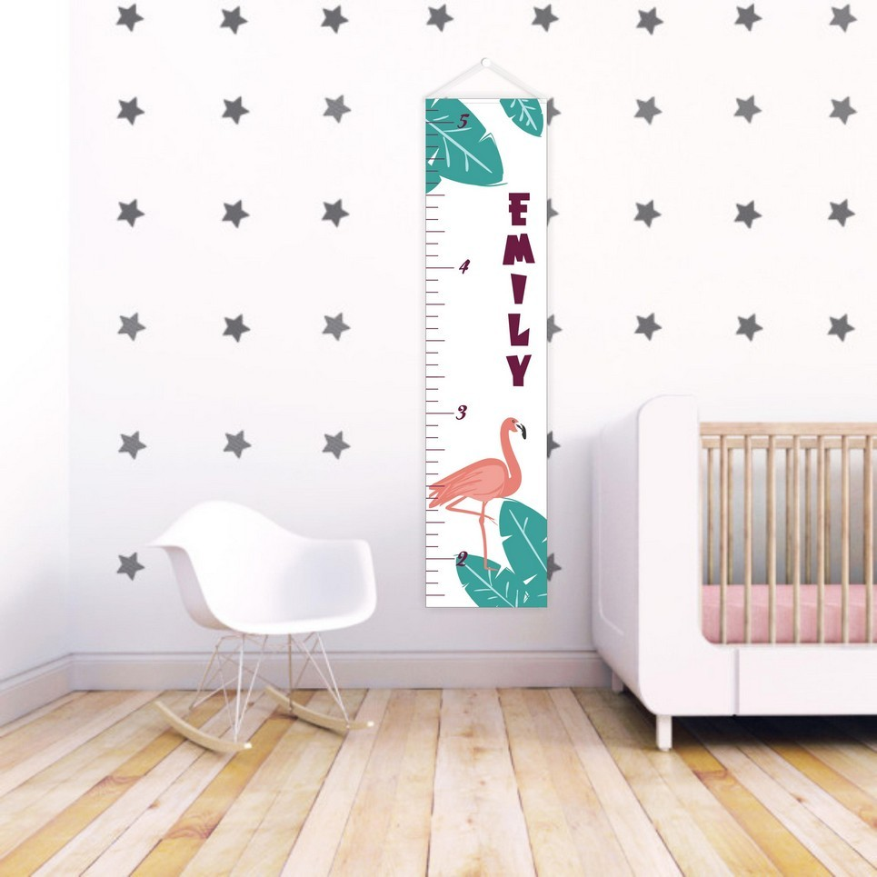 Tropical Dream Personalised Baby Growth Chart Childrens Growth