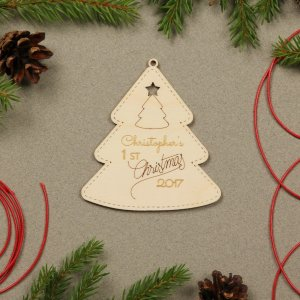 Suitable to be used year after year, the First Xmas - Personalised Christmas Ornament will be a unique and beautiful gift for your loved ones.