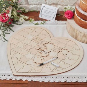 A brilliant anniversary or wedding gift for a couple or your partner, the Heart Jigsaw Wedding Guest Book is a fantastic gift that will be cherished for years to come.