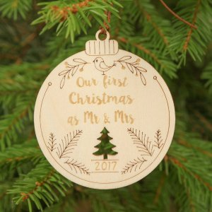Suitable to be used year after year, the Mr & Mrs Christmas - Personalised Christmas Ornament will be a unique and beautiful gift for your loved ones.