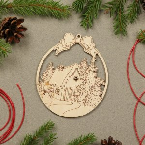 Suitable to be used year after year, the Snow House Wooden Christmas Ornament will be a unique and beautiful gift for your loved ones.