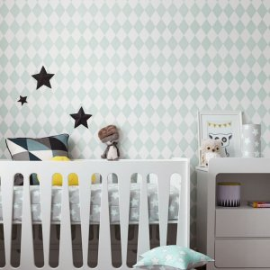 Give your little one's room the 'wow' factor with the Mint & Grey Stars Children's Bedding Set. A reversible single duvet cover that makes every bedtime adventure children can't wait to begin.