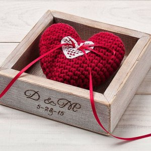 A perfect place to store your rings safely, the Personalised Red Heart Wedding Ring Box would make your wedding day unique to you.